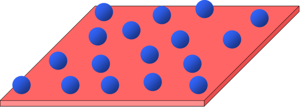 cartoon version of a two-dimensional electron gas